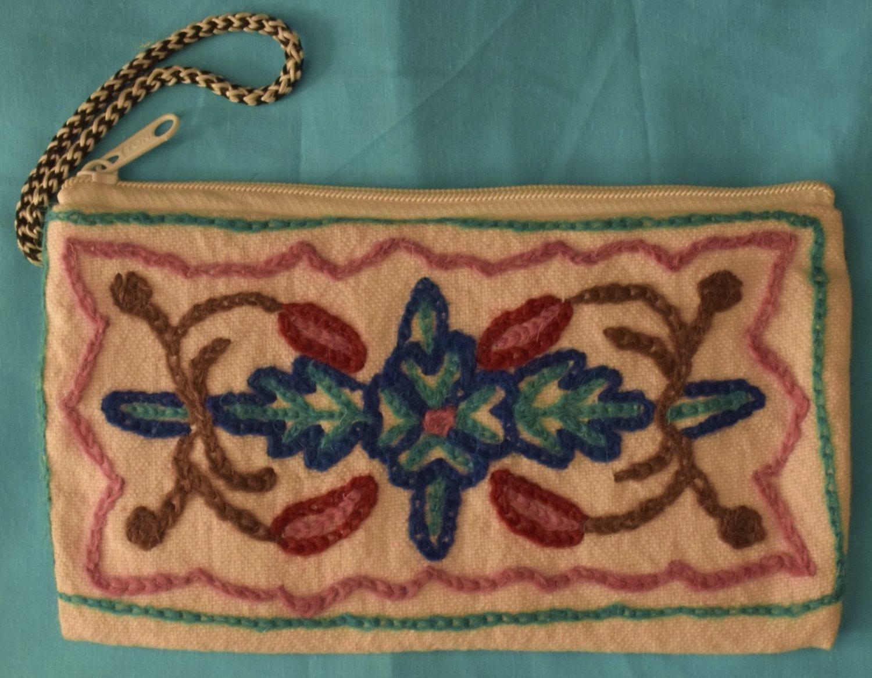 Kashmiri Hand made embroidered Purse Pouch Small HandBag HB120 2