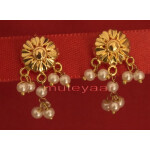Hand Made Gold Plated Punjabi Traditional Jewellery Earrings Tops J0217