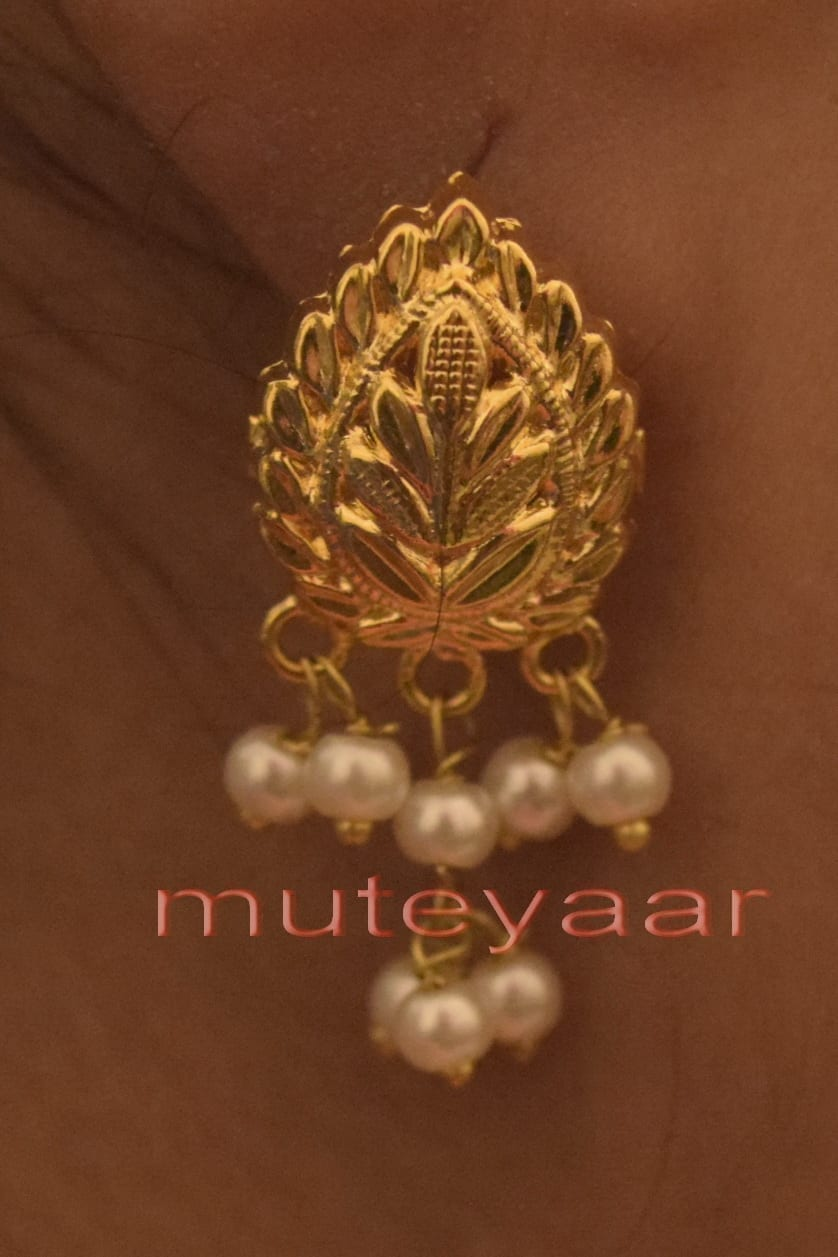 Hand Made Gold Plated Punjabi Traditional Jewellery Earrings Tops J0218 2