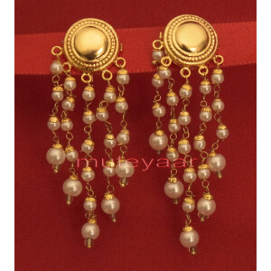 Hand Made Gold Plated Punjabi Traditional Jewellery Earrings Tops J0219