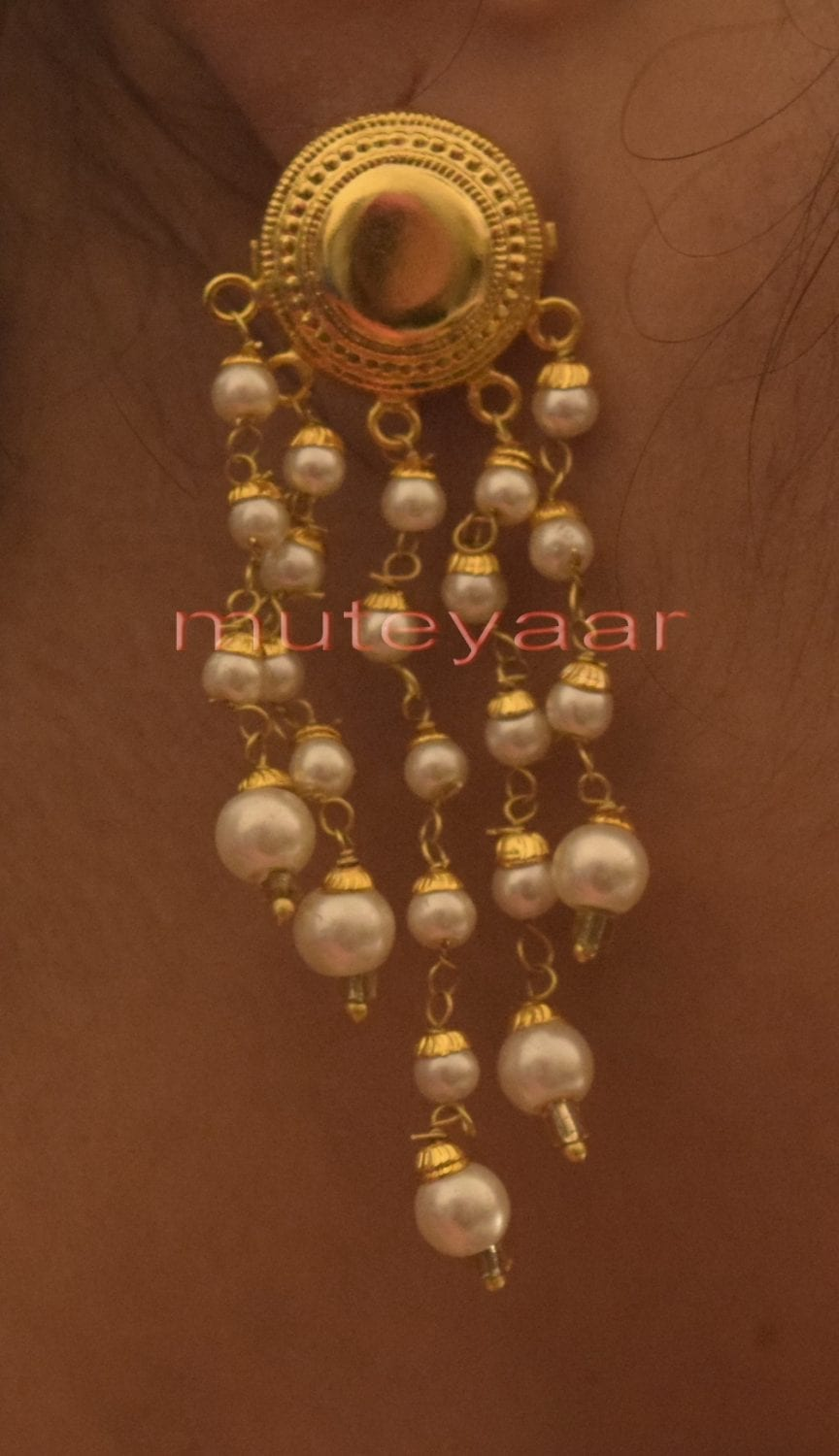 Hand Made Gold Plated Punjabi Traditional Jewellery Earrings Tops J0219 2