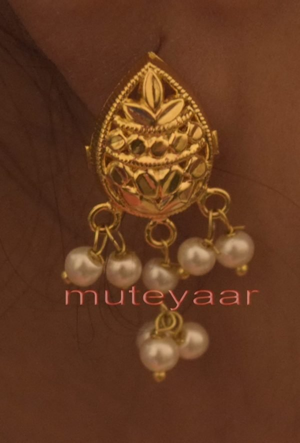 Hand Made Gold Plated Punjabi Traditional Jewellery Earrings Tops J0220