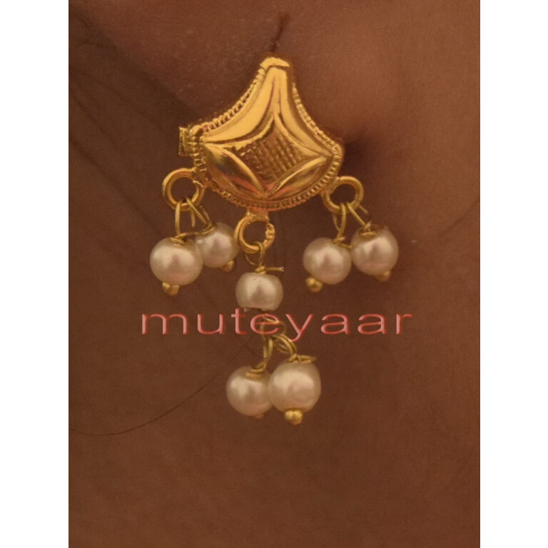 Hand Made Gold Plated Punjabi Traditional Jewellery Earrings Tops J0221