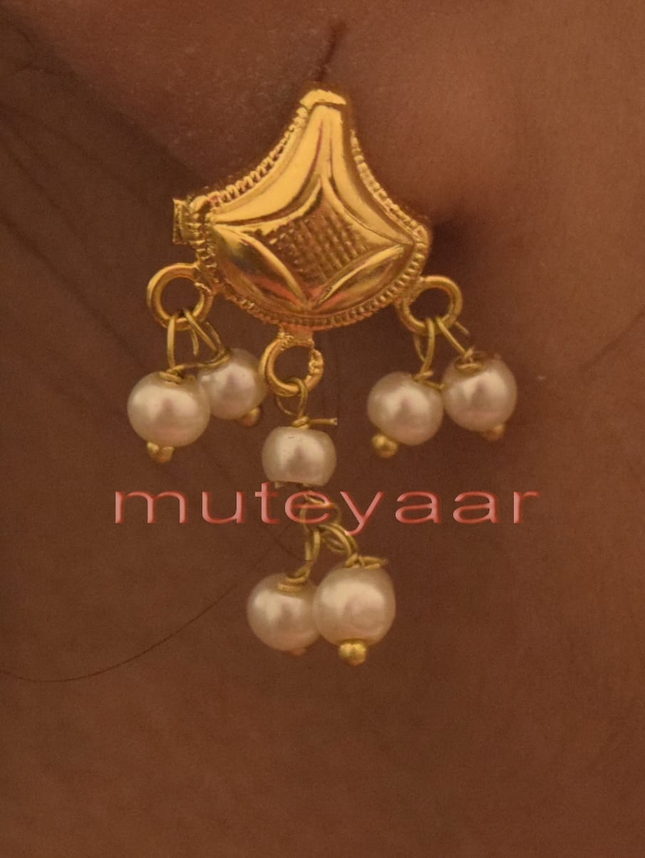 Hand Made Gold Plated Punjabi Traditional Jewellery Earrings Tops J0221 2