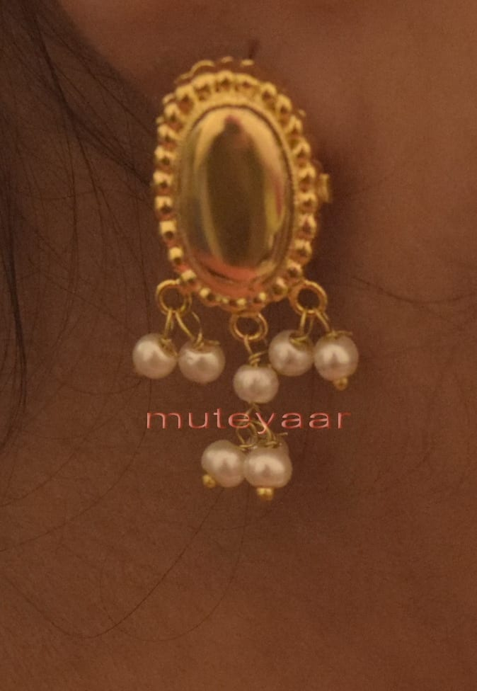 Hand Made Gold Plated Punjabi Traditional Jewellery Earrings Tops J0222 2