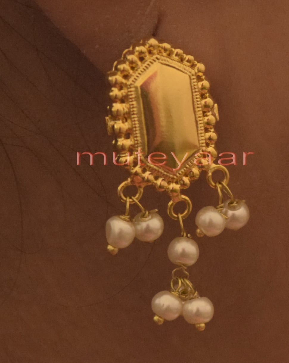 Hand Made Gold Plated Punjabi Traditional Jewellery Earrings Tops J0223 2