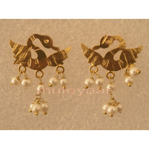Hand Made Gold Plated Punjabi Traditional Jewellery Earrings Tops J0224