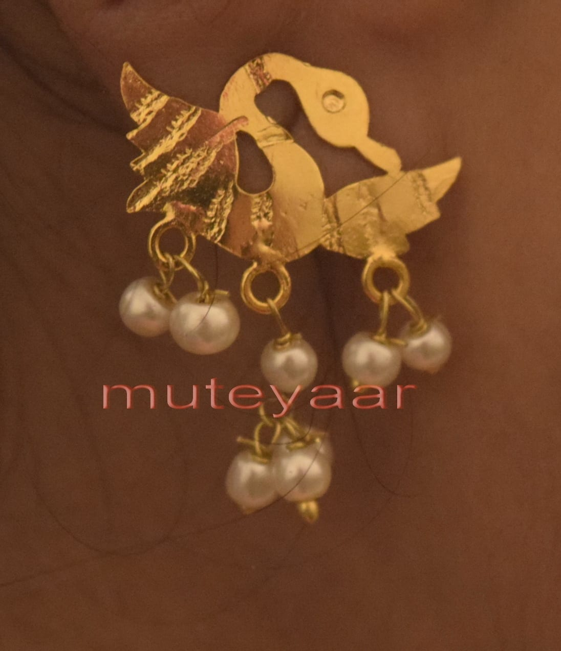 Hand Made Gold Plated Punjabi Traditional Jewellery Earrings Tops J0224 2