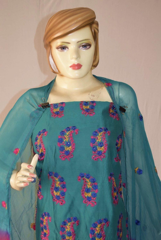 Shantoon Cotton M/C embroidered Salwar kameez Dupatta Suit M0317