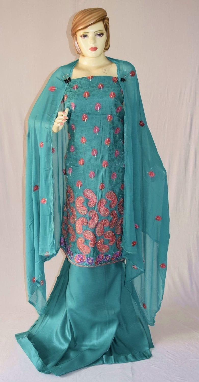Self Makhmali M/C embroidered Salwar kameez Dupatta Suit M0319 1