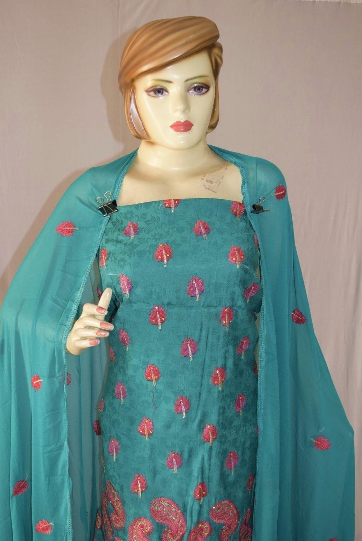 Self Makhmali M/C embroidered Salwar kameez Dupatta Suit M0319 2
