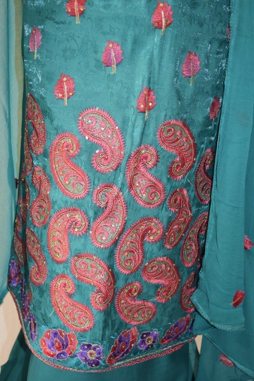 Self Makhmali M/C embroidered Salwar kameez Dupatta Suit M0319 3