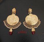 Punjabi Traditional Jewellery Handmade Gold Plated Earrings J0246