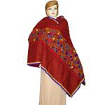 Designer Cotton Jali Hand Embroidered Partywear Dupatta D0760