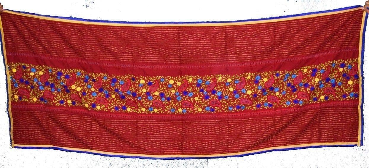 Designer Cotton Jali Hand Embroidered Partywear Dupatta D0760 3