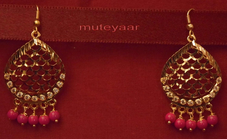Gold Plated Traditional Punjabi Jewellery Earrings + Tikka set J0244 3