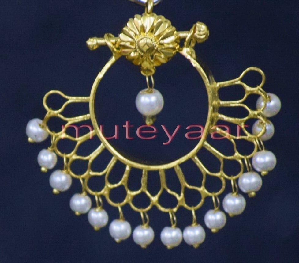 Hand Made Gold Plated Traditional Punjabi Jewellery Earrings Jhumka J0248 3