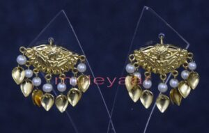 Hand Made Gold Plated Punjabi Traditional Jewellery Earrings Tops J0251