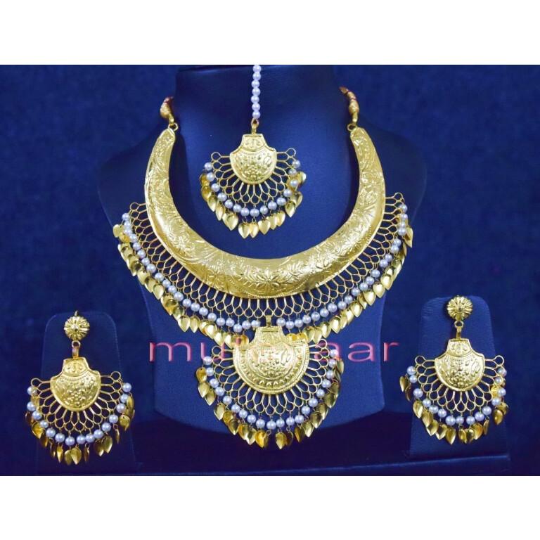 Gold Plated Hasli Necklace Set J0252