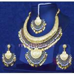 Gold Plated Hasli Necklace Set Traditional Punjabi jewellery J0252