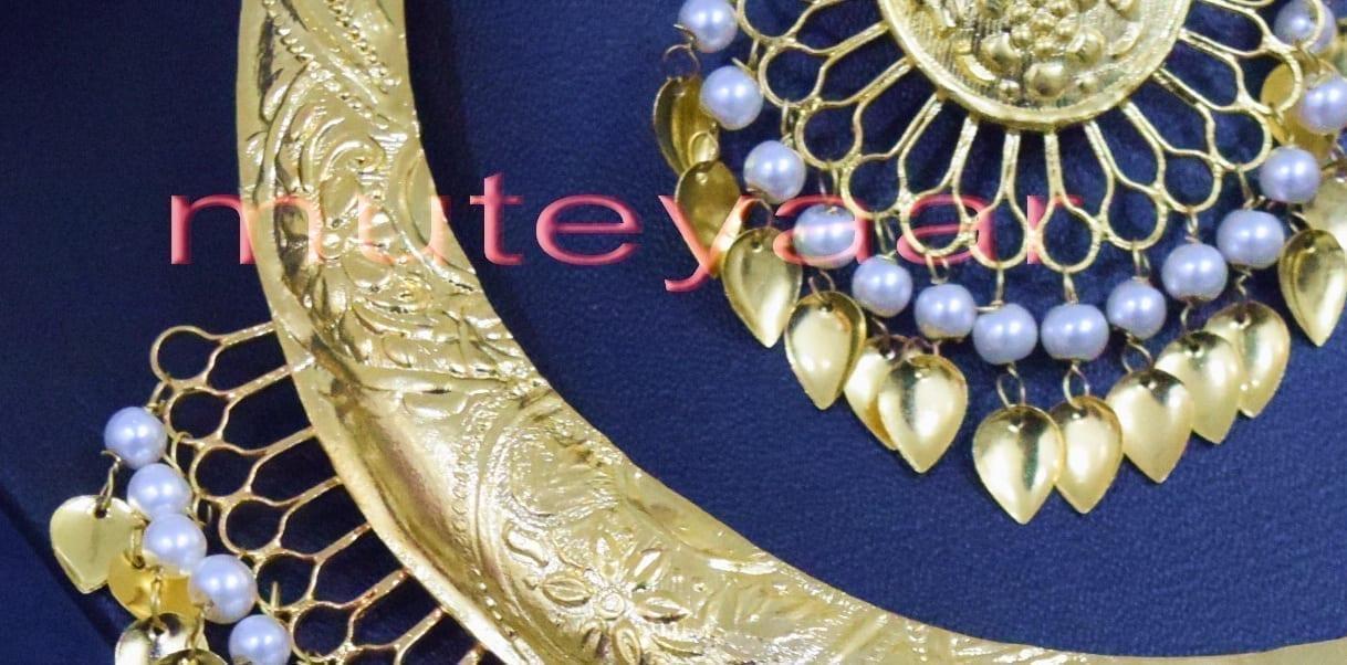 Gold Plated Hasli Necklace Set Traditional Punjabi jewellery J0252 4