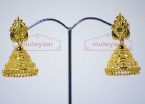 Gold Plated Punjabi Traditional Jewellery Earrings Jhmki Dangles J0262