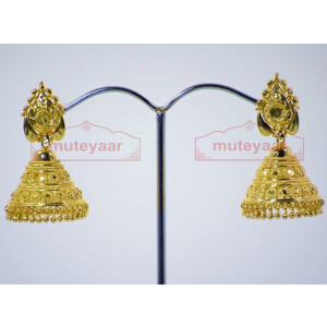 Gold Plated Punjabi Traditional Jewellery Earrings Jhmki Dangles J0262