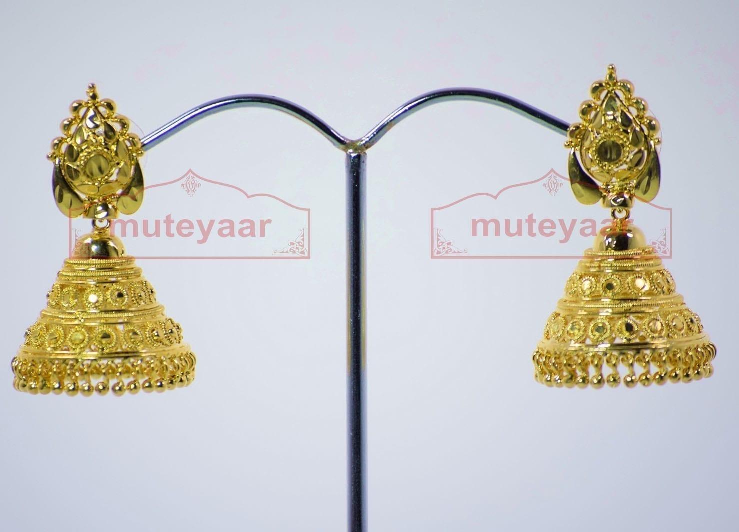 Gold Plated Punjabi Traditional Jewellery Earrings Jhmki Dangles J0262 1