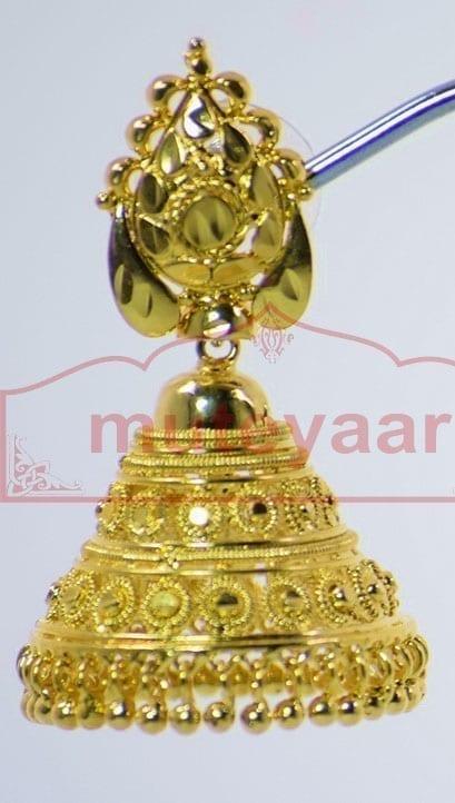 Gold Plated Punjabi Traditional Jewellery Earrings Jhmki Dangles J0262 2