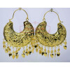 Thappa Work Gold Plated Punjabi Traditional Jewellery Earrings set J0268