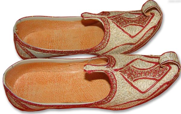 Desi Hand Made Embroidered Wedding Groom Achkan Sherwani Jutti Shoes ACJ01