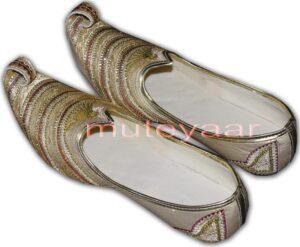 Desi Hand Made Embroidered Wedding Groom Achkan Sherwani Dulha Jutti Shoes ACJ07