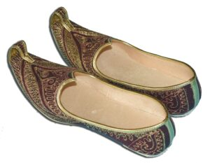 Desi Hand Made Embroidered Wedding Groom Achkan Sherwani Jutti Shoes ACJ08