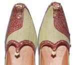 Desi Hand Made Embroidered Wedding Groom Achkan Sherwani Jutti Shoes ACJ09