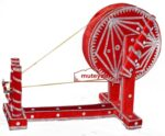 GIDDHA  prop – VELVET decorated CHARKHA (size 2.5 ft)