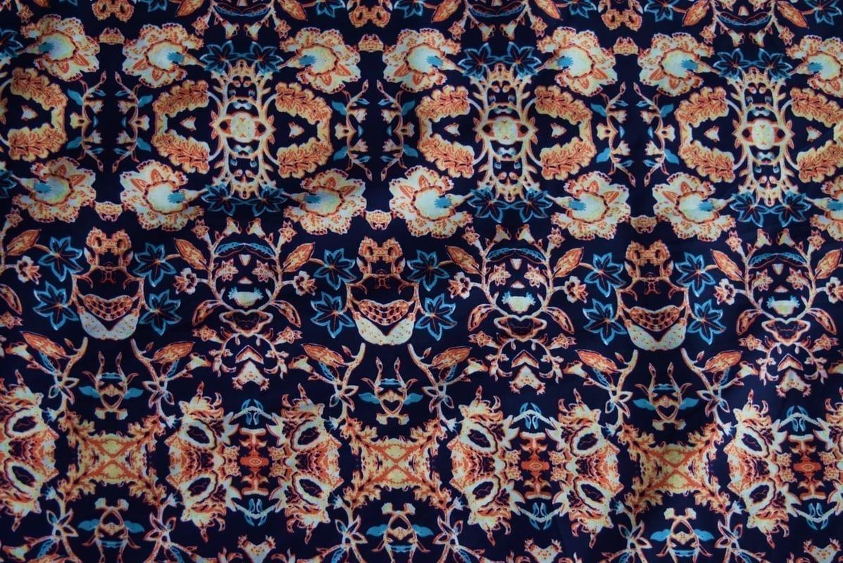 Drapy Printed American Crepe fabric PAC01 1