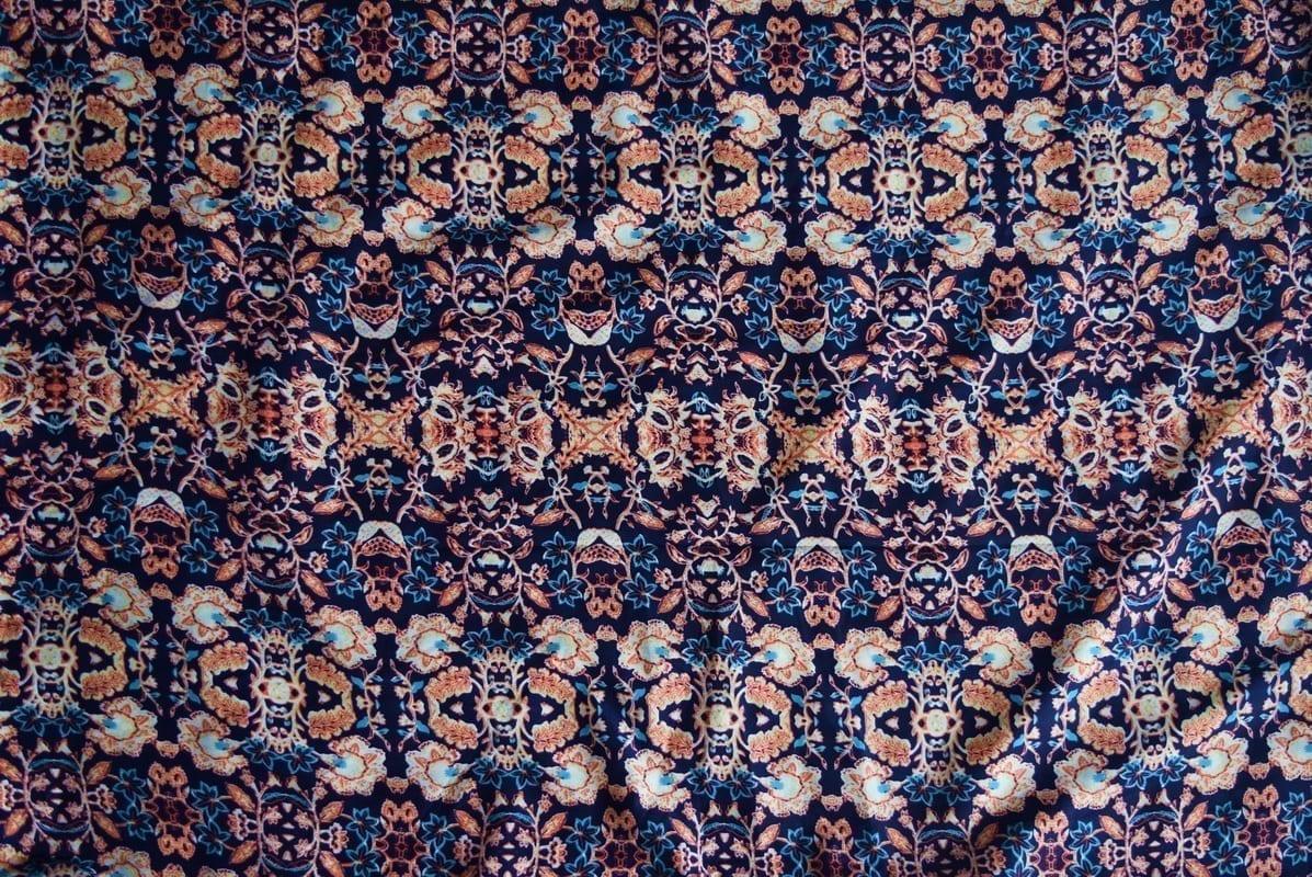 Drapy Printed American Crepe fabric PAC01 2