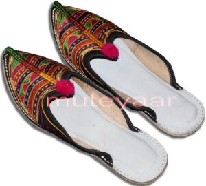 Multicolour Desi Punjabi Jutti Party wear Slipper shoes PJ9738