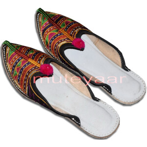 Multicolour Desi Punjabi Jutti Party wear Slipper shoes PJ9738