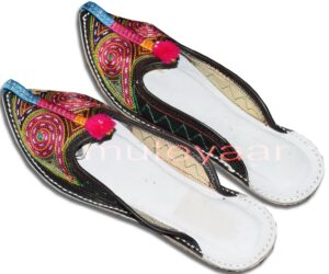Multicolour Desi Punjabi Jutti Party wear Slipper shoes PJ9750