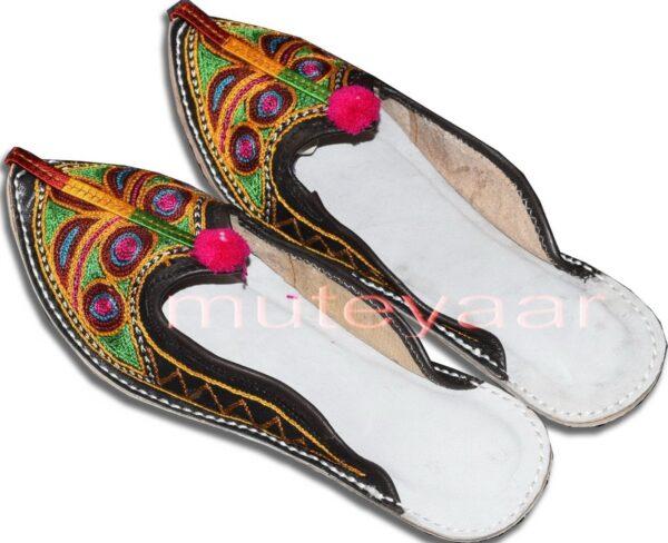 Multicolour Desi Punjabi Jutti Party wear Slipper shoes PJ9751