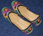 Thread Embroidered hand made Punjabi Jutti Party wear Shoes PJ9757