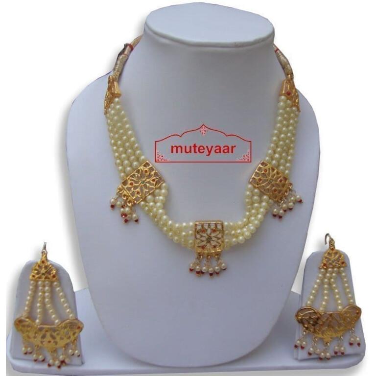 Motihaar Bhangra Giddha Jewelery set of Neclace + Earrrings