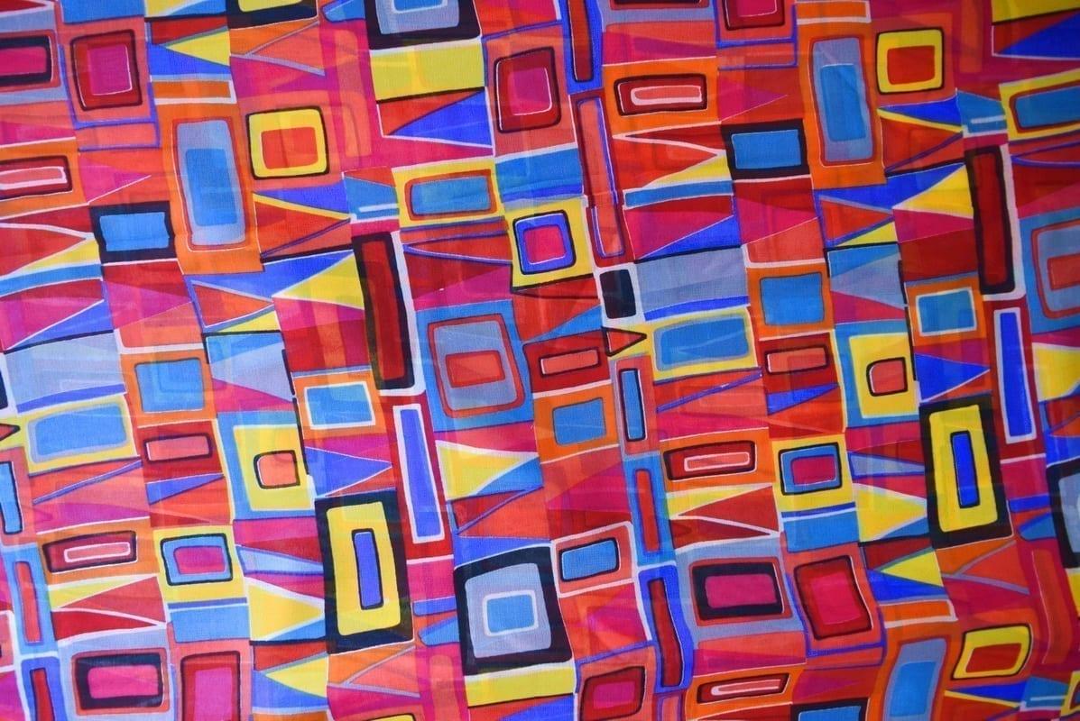 GEORGETTE PRINTED fabric for Kurti, Saree, Salwar, Dupatta GF045 2