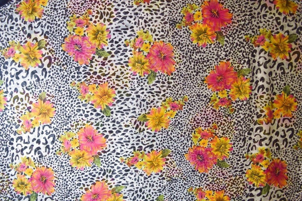 GEORGETTE PRINTED fabric for Kurti, Saree, Salwar, Dupatta GF047 2