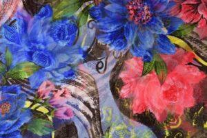 GEORGETTE PRINTED fabric for Kurti, Saree, Salwar, Dupatta GF048