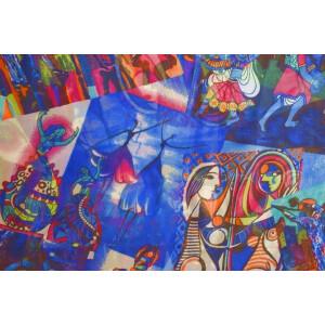 GEORGETTE PRINTED fabric for Kurti, Saree, Salwar, Dupatta GF052