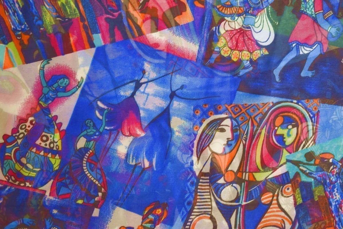 GEORGETTE PRINTED fabric for Kurti, Saree, Salwar, Dupatta GF052 1