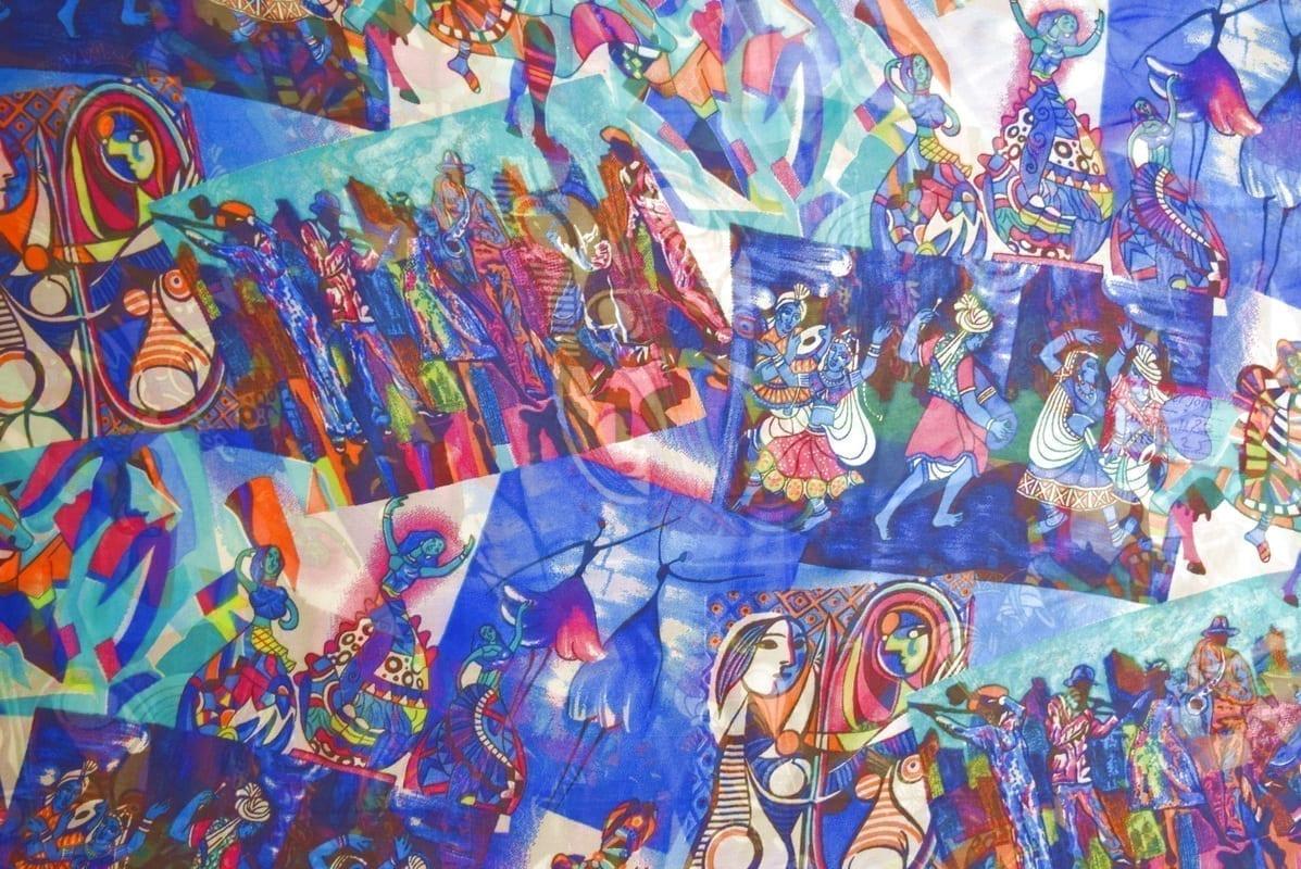 GEORGETTE PRINTED fabric for Kurti, Saree, Salwar, Dupatta GF052 2