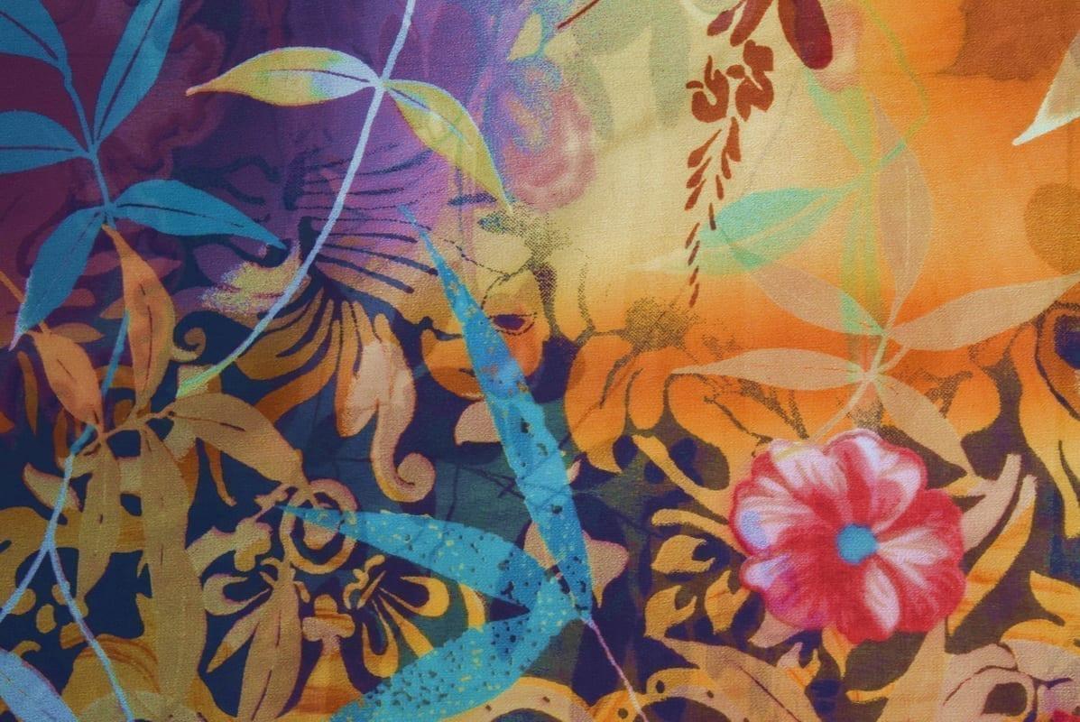 GEORGETTE PRINTED fabric for Kurti, Saree, Salwar, Dupatta GF054 1